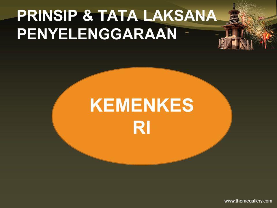 www.themegallery.com PRINSIP & TATA LAKSANA PENYELENGGARAAN KEMENKES RI