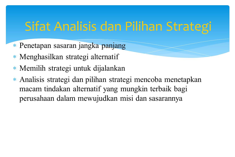 Analisis dan Pilihan Strategi DEDY ARFIYANTO, SE, MM