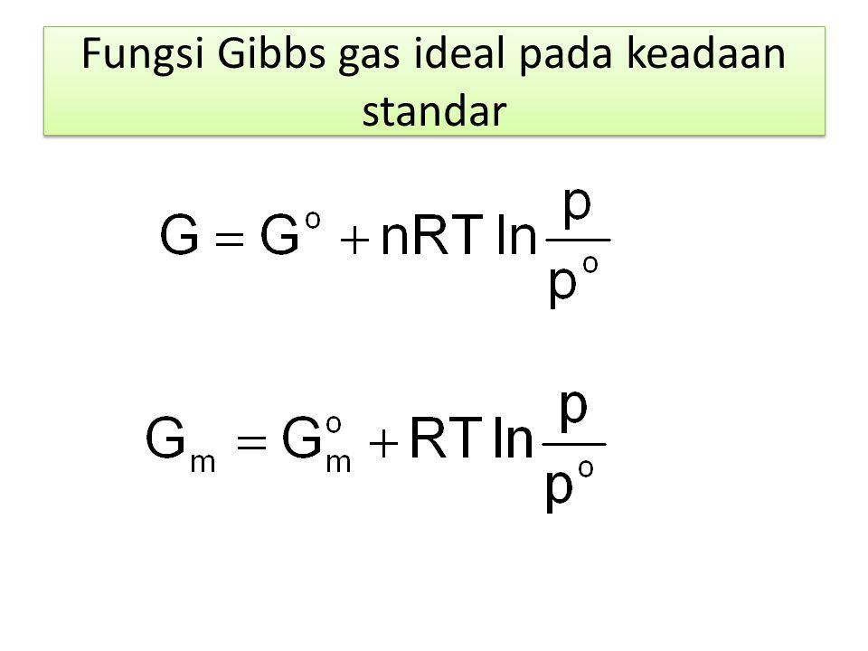 Fungsi Gibbs gas ideal pada keadaan standar