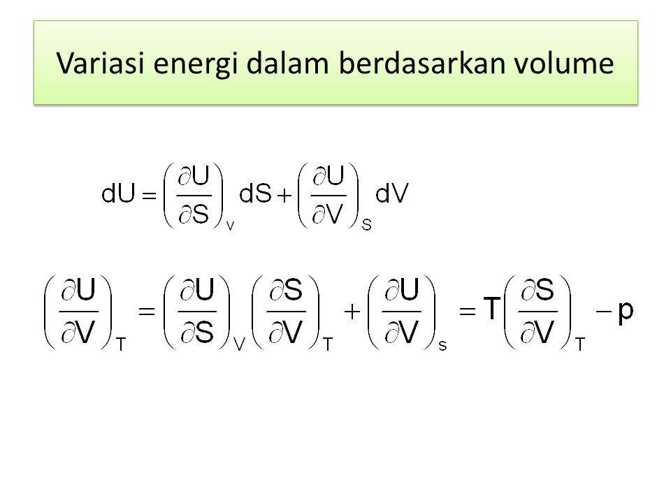 Variasi energi dalam berdasarkan volume