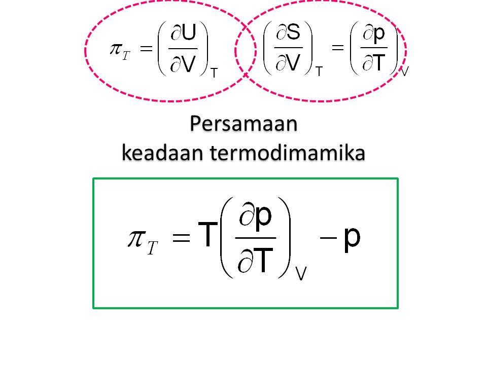 Persamaan keadaan termodimamika Persamaan keadaan termodimamika