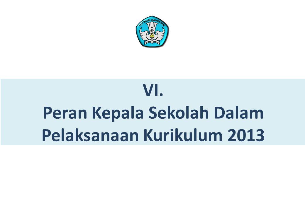 VI. Peran Kepala Sekolah Dalam Pelaksanaan Kurikulum 2013