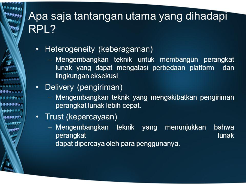 Apa saja tantangan utama yang dihadapi RPL.