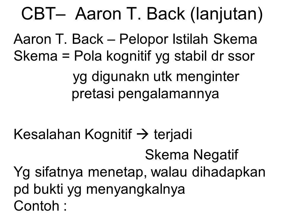 CBT– Aaron T.Back (lanjutan) Aaron T.