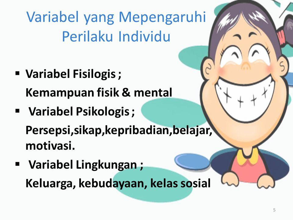 Variabel yang Mepengaruhi Perilaku Individu 6