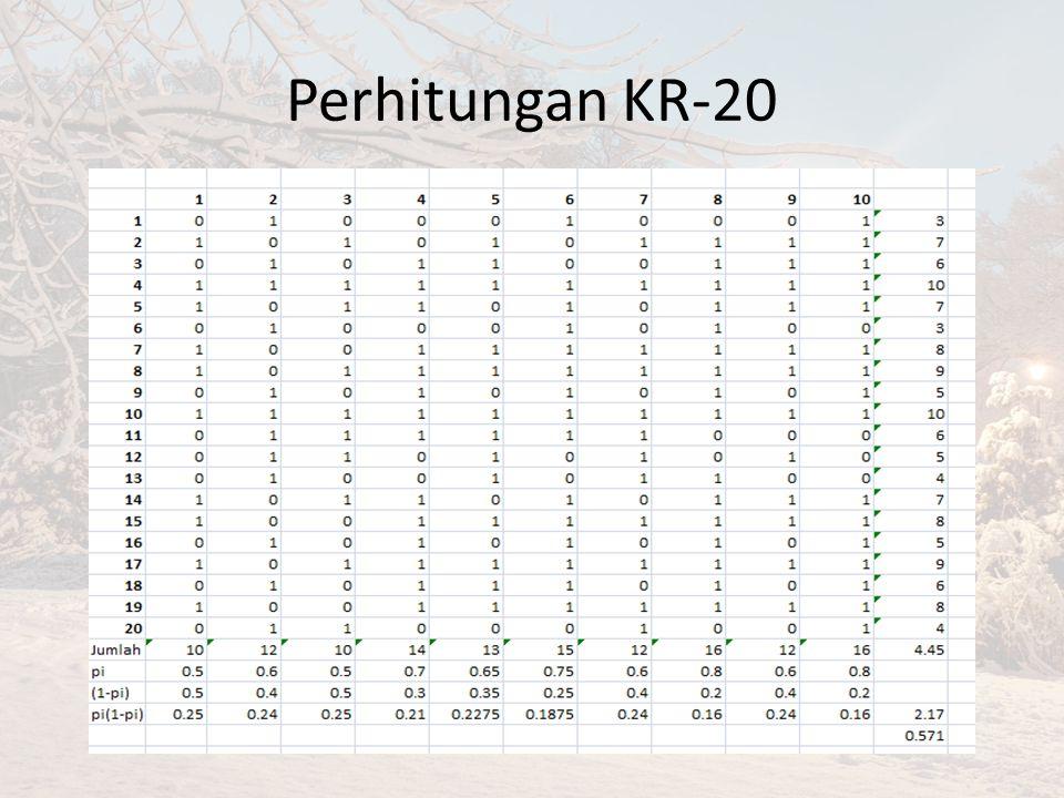 Perhitungan KR-20