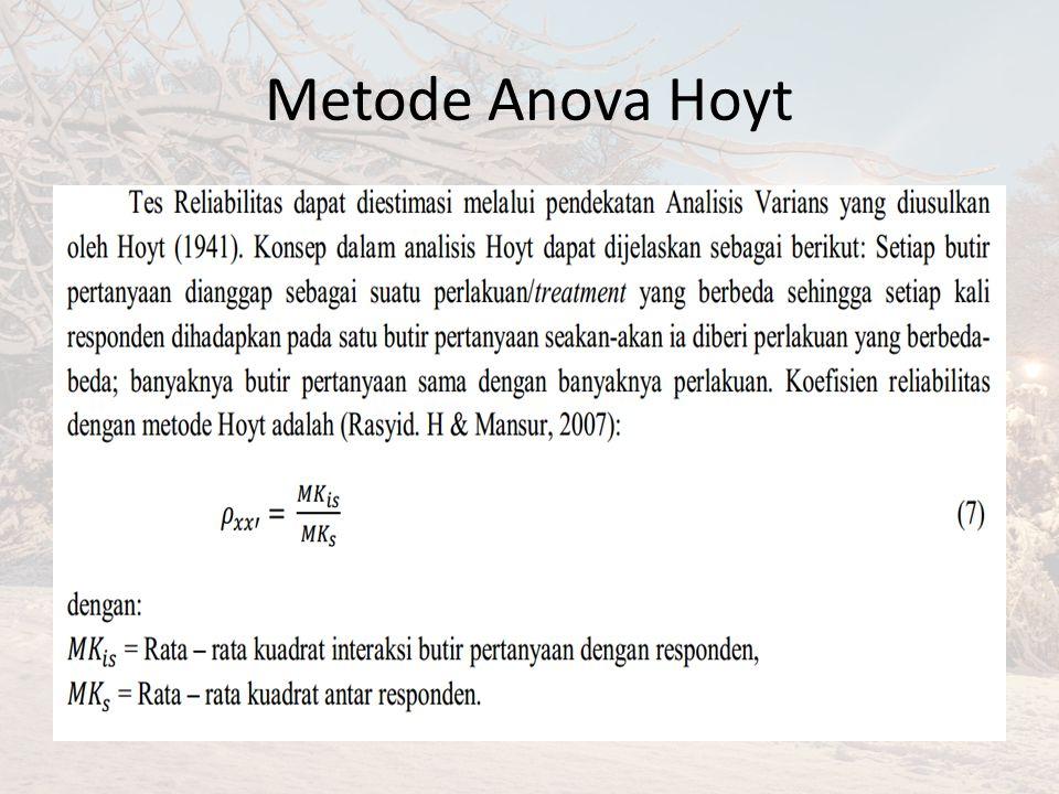 Metode Anova Hoyt