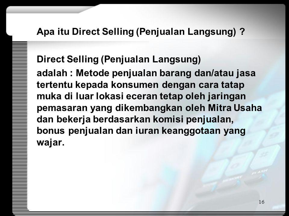 Apa itu Direct Selling (Penjualan Langsung) .