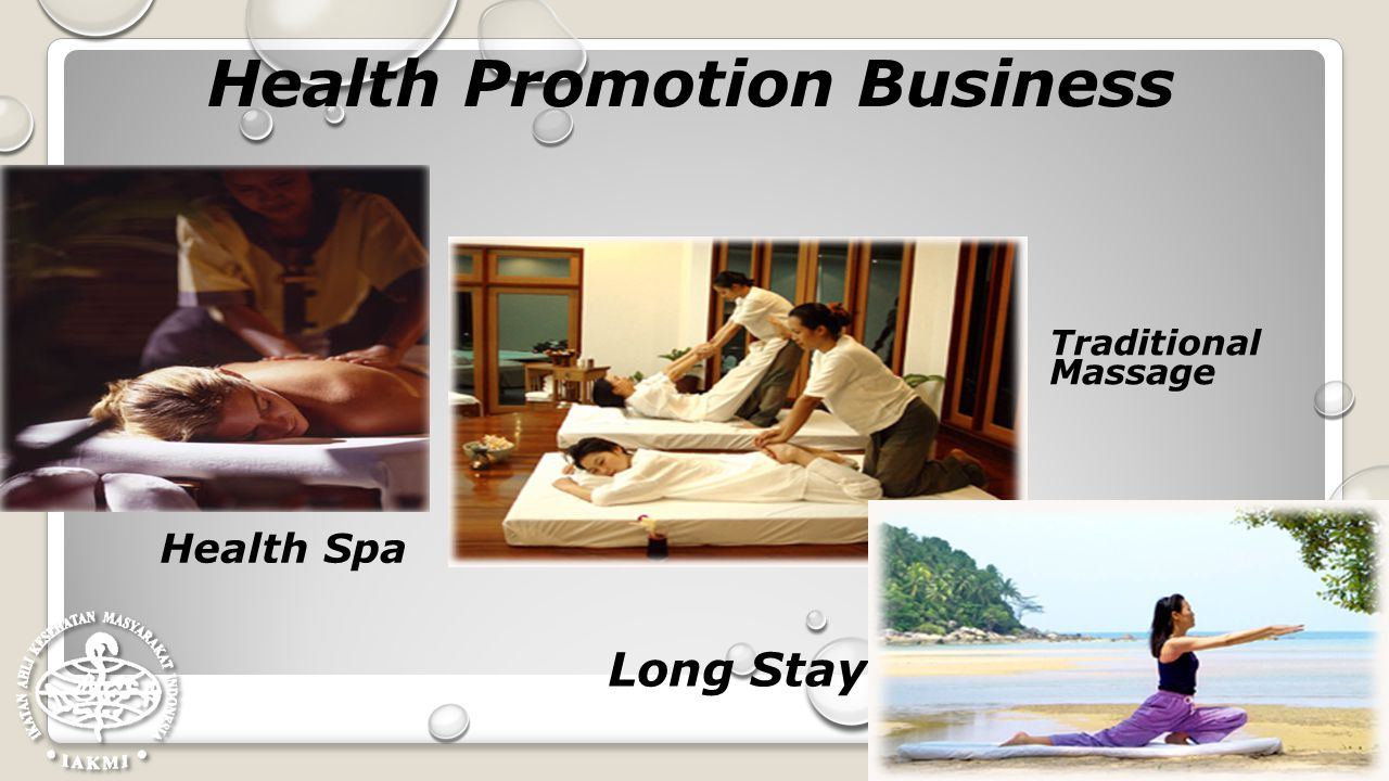 Health Promotion Business Health Spa Traditional Massage Long Stay