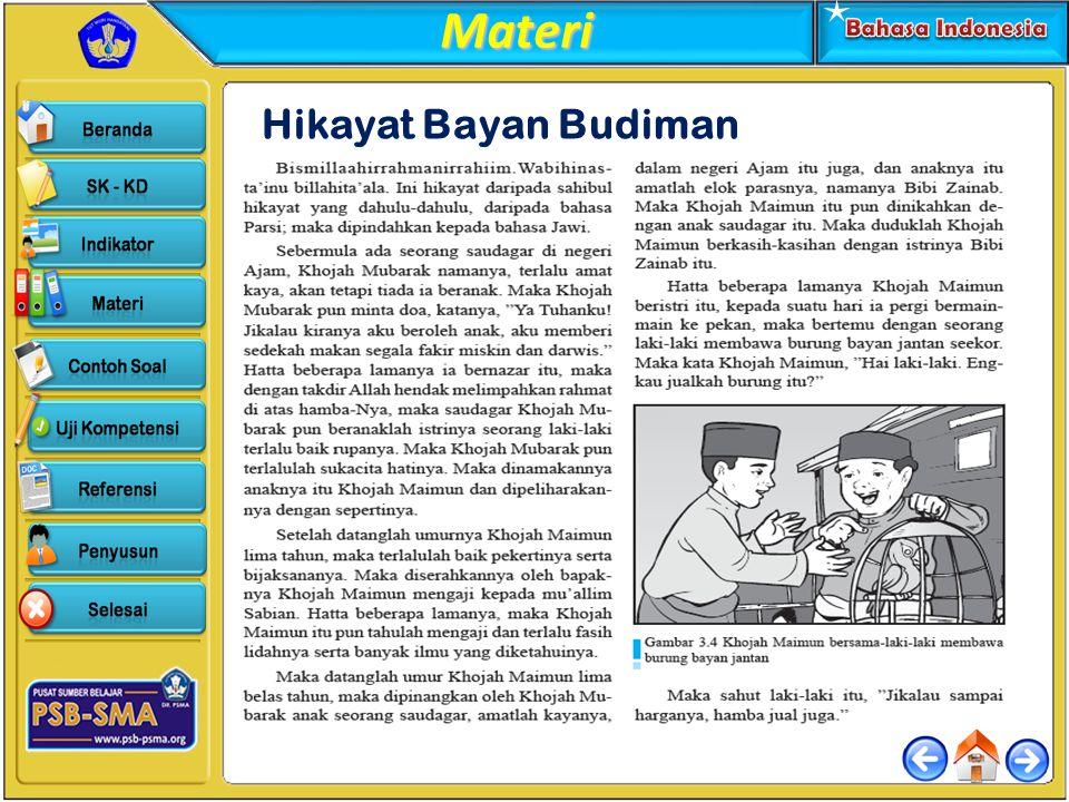 Materi Hikayat Bayan Budiman