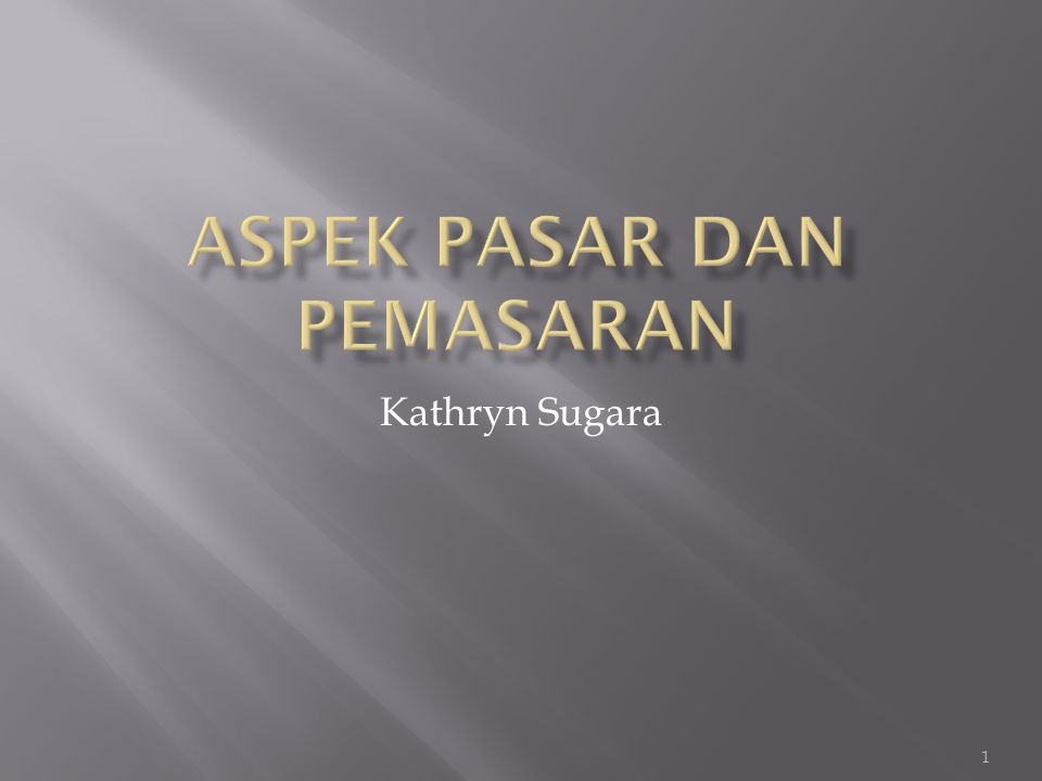 1 Kathryn Sugara