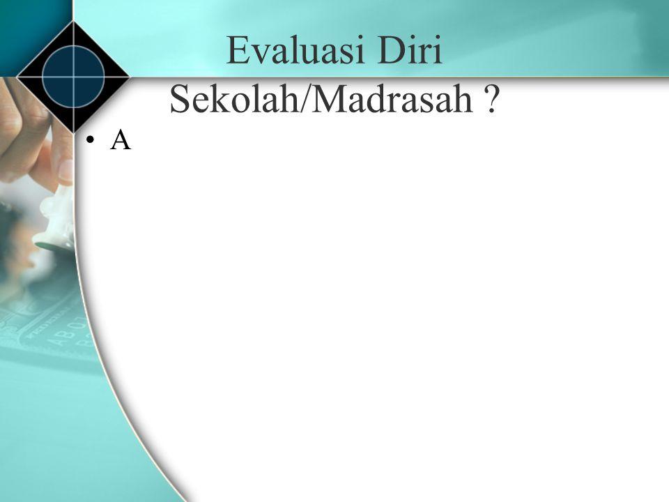 Evaluasi Diri Sekolah/Madrasah ? A