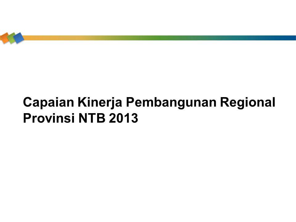 Capaian Kinerja Pembangunan Regional Provinsi NTB 2013