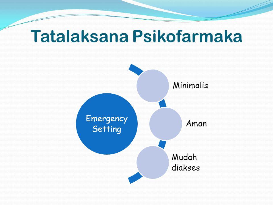 Tatalaksana Psikofarmaka Emergency Setting Minimalis Aman Mudah diakses