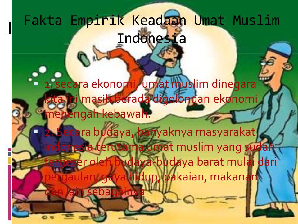 Fakta Empirik Keadaan Umat Muslim Indonesia  1.