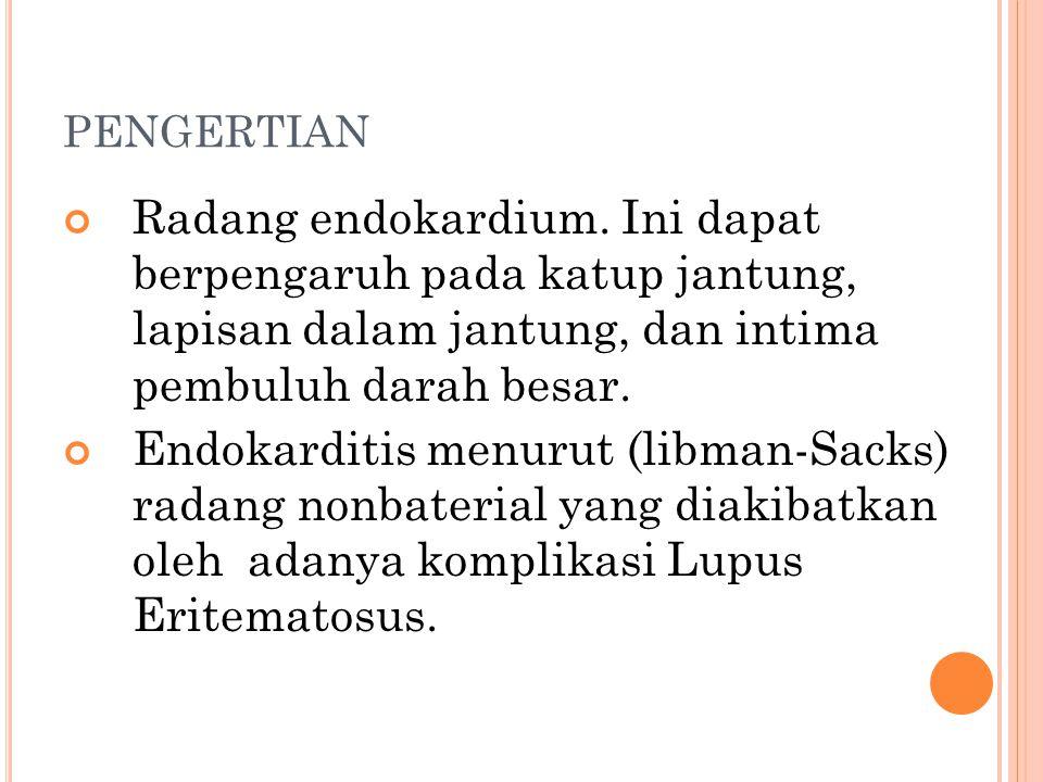 PENGERTIAN Radang endokardium.