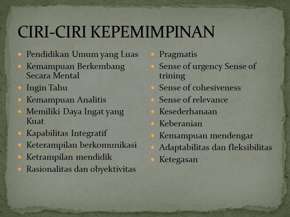 Tanggung Jawab Kepemimpinan Menurut Susilo Martoyo (2000;180) mengatakan bahwa tanggung jawab para pemimpin adalah sebagai berikut: 1.