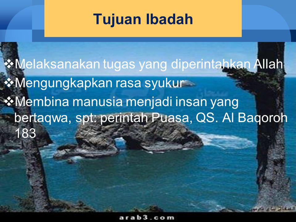 38 IBADAH Definisi ibadah: berasal dari 'ABDU = HAMBA/ KAWULO, sehingga berarti = menghambakan diri, taat, do'a (etimologis) * Meng-Esakan Allah, mengagungkanNya disertai ketundukan jiwa (terminologi ahli tauhid) * Sesuatu yang dikerjakan demi mengharap ridlo Allah dan mencari pahala (terminologi fuqoha`)