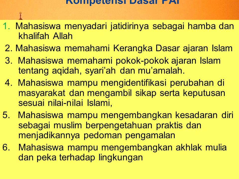 Syari'ah  Adalah sebutan bagi berbagai peraturan dan hukum yang telah ditetapkan Allah swt.