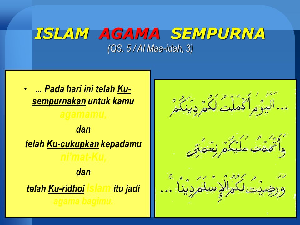 Fungsi Agama DALAM KEHIDUPAN MANUSIA Fungsi Agama DALAM KEHIDUPAN MANUSIA Menunjuki Manusia Kepada: ■ Kebenaran Sejati Sejati (QS.10/35) (QS.10/35) ■ Kebahagiaan Hakiki Hakiki (QS.13/28) (QS.13/28) ■ Mengatur Kehidupan Kehidupan Manusia Manusia (QS.2/213) (QS.2/213)