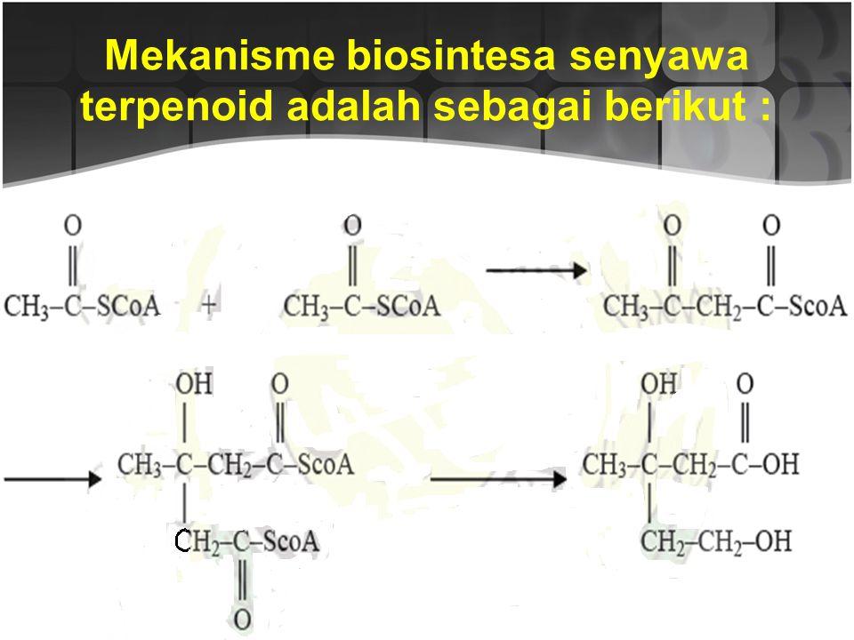 Sebagian besar terpenoid memiliki kerangka karbon yang dibangun oleh 2 atau lebih unit C-5 yang disebut dengan unit isopren. Unit C-5 ini dinamakan de
