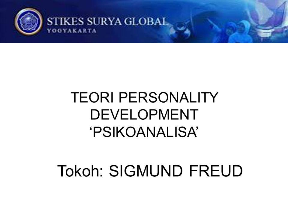 TEORI PERSONALITY DEVELOPMENT 'PSIKOANALISA' Tokoh: SIGMUND FREUD