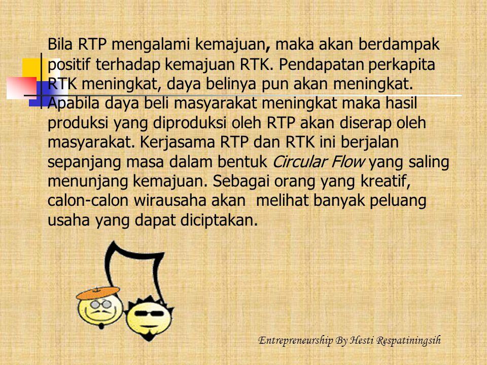 Bila RTP mengalami kemajuan, maka akan berdampak positif terhadap kemajuan RTK.