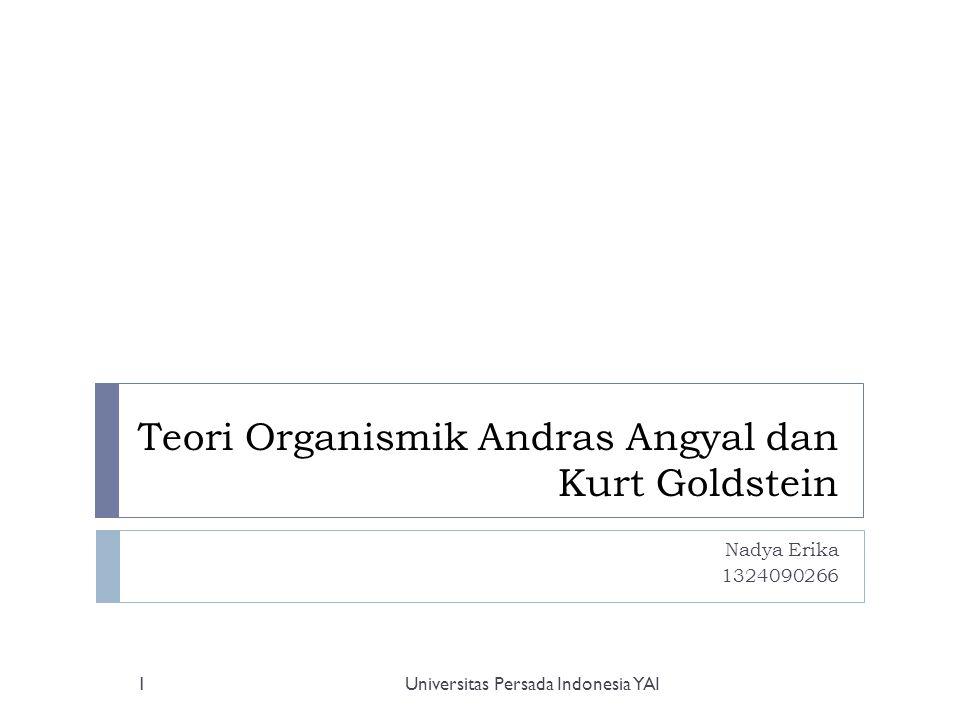 Teori Organismik Andras Angyal dan Kurt Goldstein Nadya Erika 1324090266 Universitas Persada Indonesia YAI1
