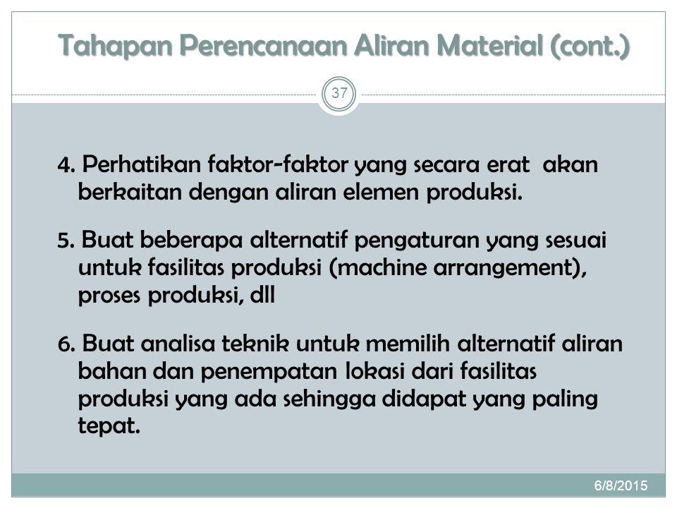 Tahapan Perencanaan Aliran Material (cont.) 4.