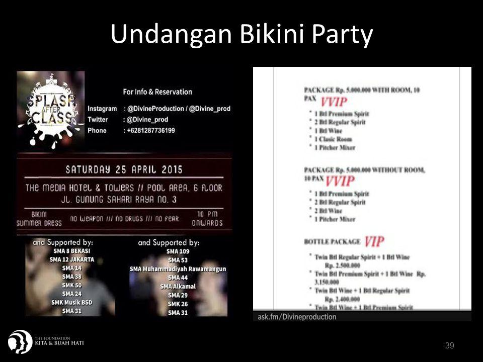 39 Undangan Bikini Party