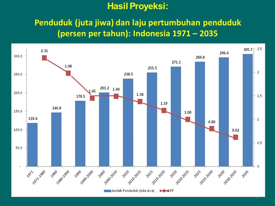 1971 1980 120 juTa 118 juTa STRUKTUR DEMOGRAFI INDONESIA Usia produkTif adalah KeloMpok 'renTan' 2010 Indonesia: Penduduk besar 238 jt -> HDI Ranking 108 (dari 187 negara, UNDP 2014) 4