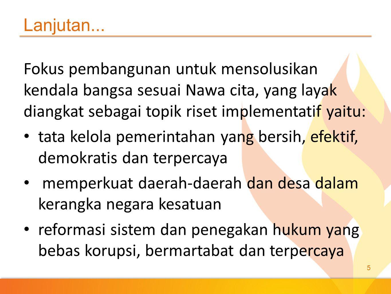 kualitas hidup manusia indonesia produktivitas rakyat dan daya saing di pasar internasional karakter bangsa ke-bhineka-an dan restorasi sosial indonesia 6 Lanjutan...