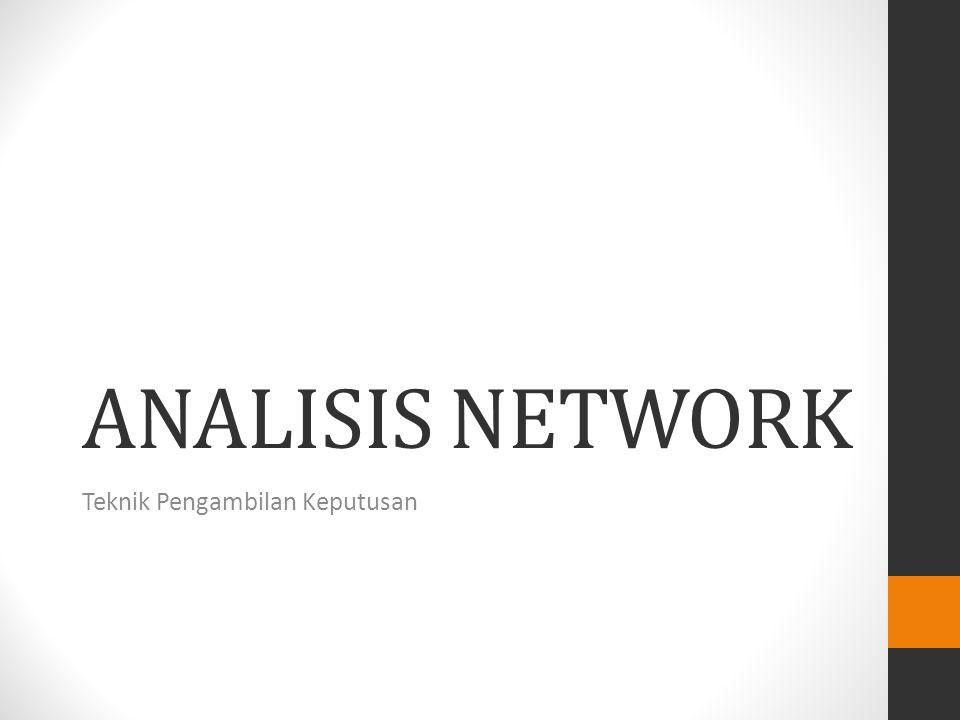 ANALISIS NETWORK Teknik Pengambilan Keputusan