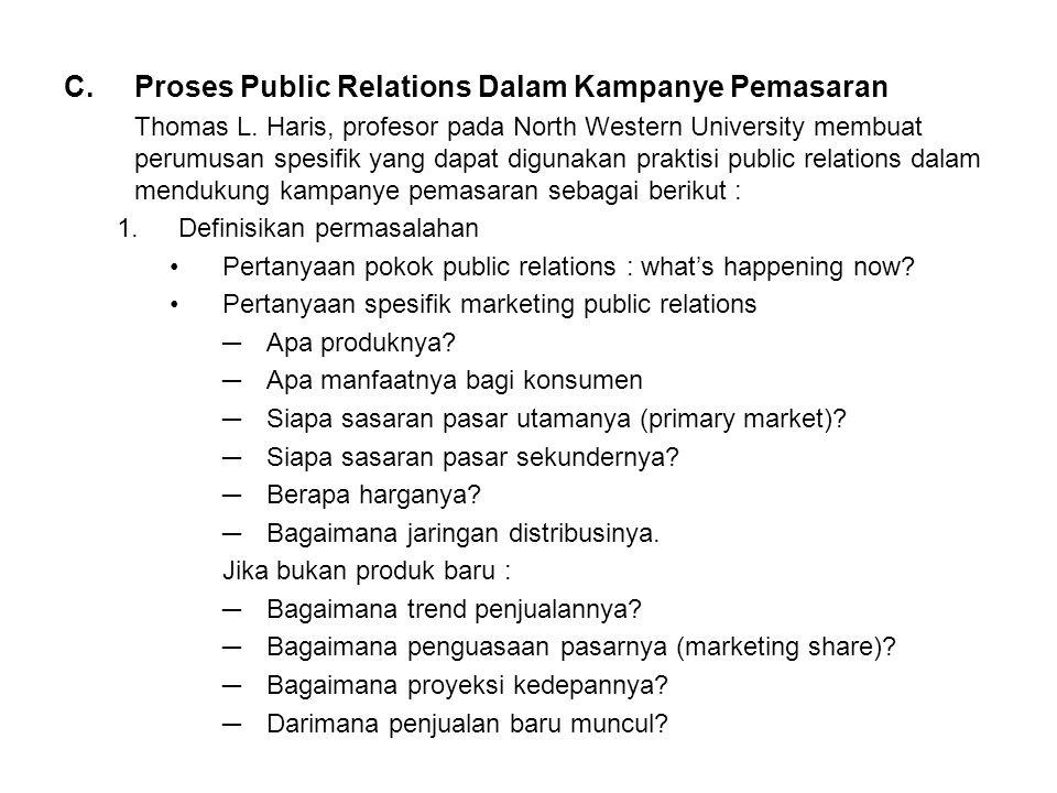 C.Proses Public Relations Dalam Kampanye Pemasaran Thomas L.