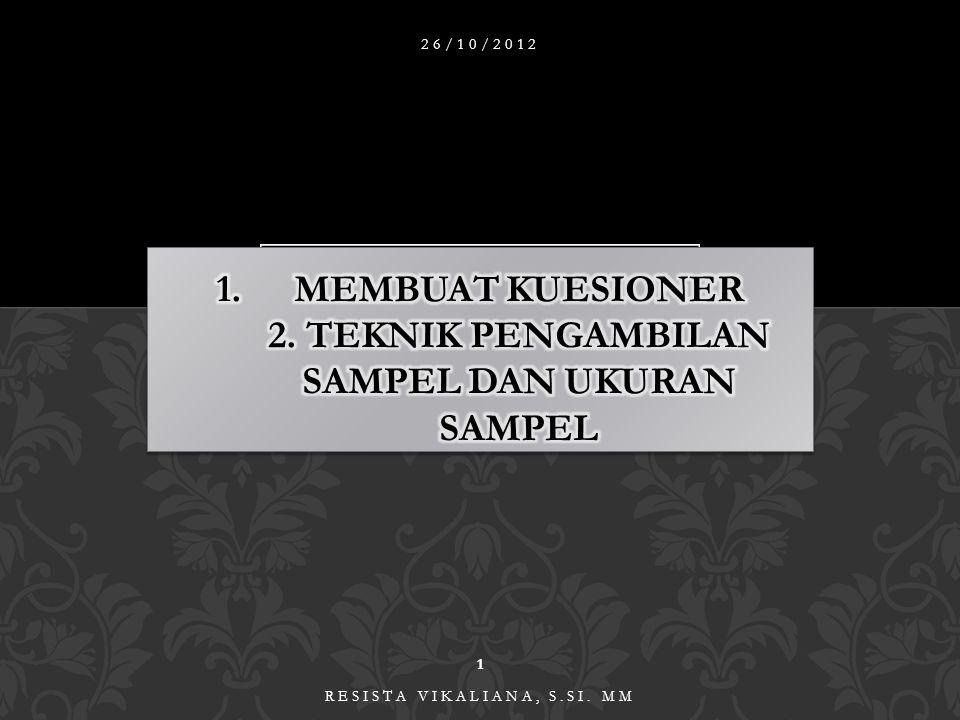 26/10/2012 1 RESISTA VIKALIANA, S.SI. MM