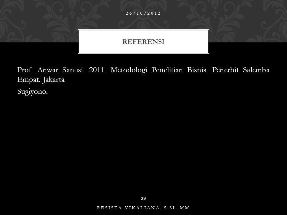 KREJCIE & MORGAN 26/10/2012 27 RESISTA VIKALIANA, S.SI.
