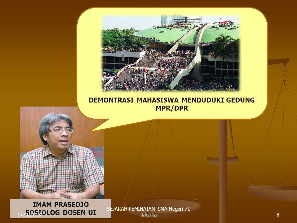 9/25/20137 SEJARAH PEMINATAN SMA Negeri 71 Jakarta