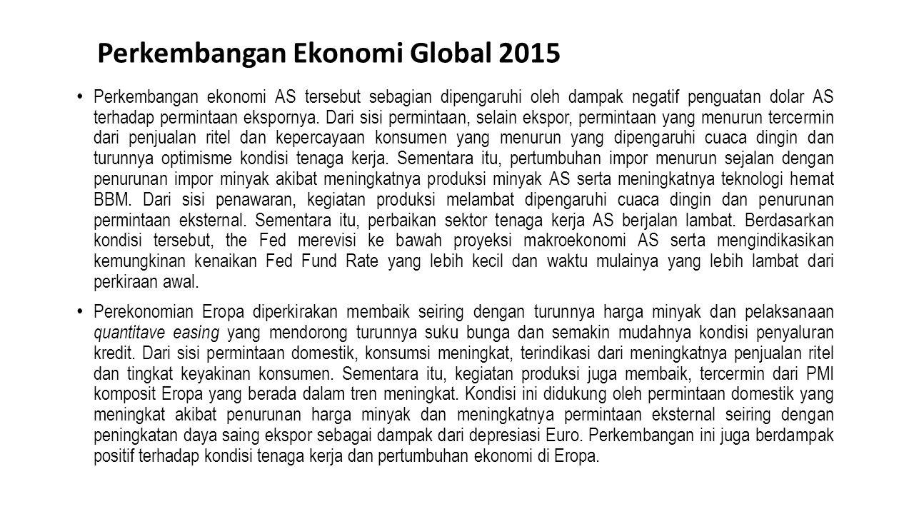 Perkembangan Ekonomi Global 2015 Sumber : LTKM BI April 2015