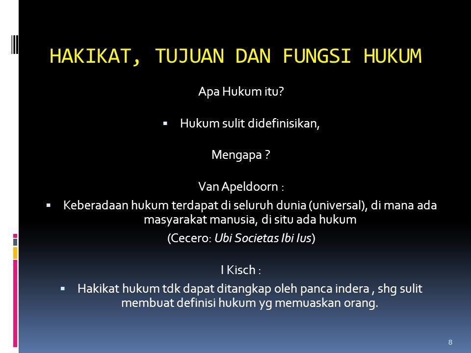 TUJUAN HUKUM 1.