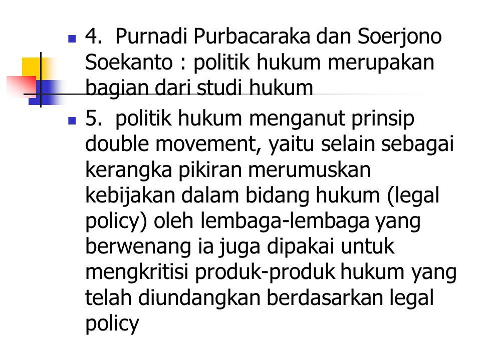 Kedudukan Politik Hukum 1.