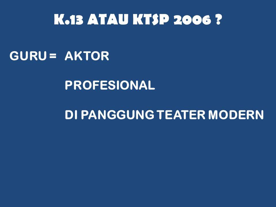 K.13 ATAU KTSP 2006 ? GURU =AKTOR PROFESIONAL DI PANGGUNG TEATER MODERN