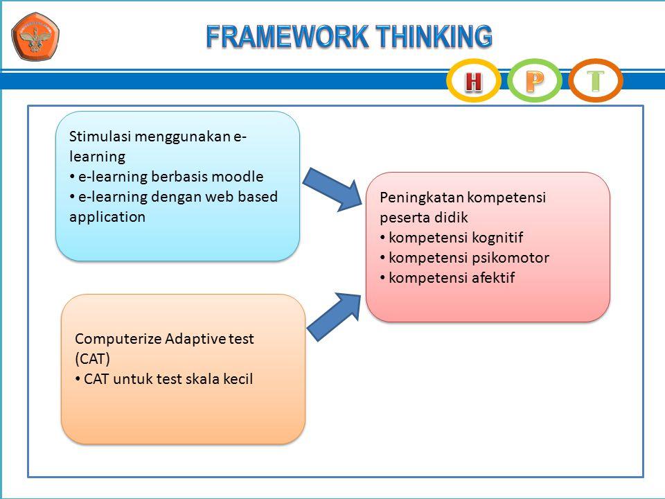 Stimulasi menggunakan e- learning e-learning berbasis moodle e-learning dengan web based application Stimulasi menggunakan e- learning e-learning berb