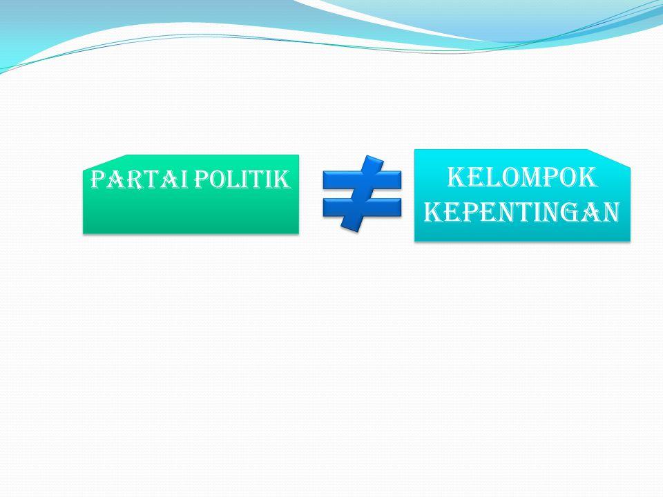 Partai politik Kelompok kepentingan