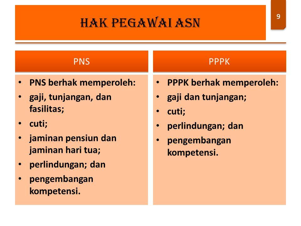 PPPK diberikan kesempatan untuk pengembangan kompetensi.