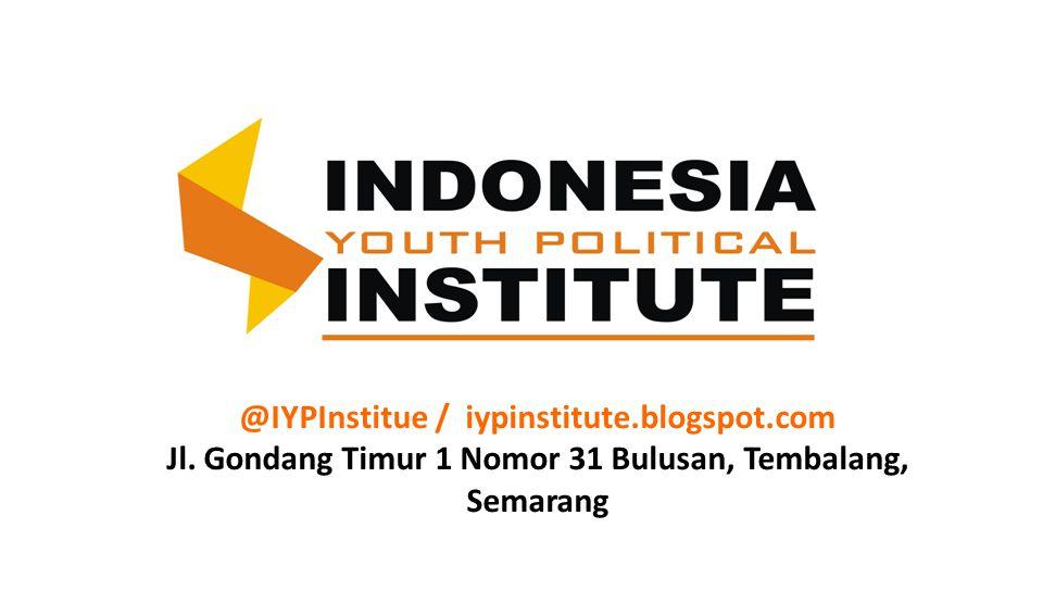 @IYPInstitue / iypinstitute.blogspot.com Jl. Gondang Timur 1 Nomor 31 Bulusan, Tembalang, Semarang