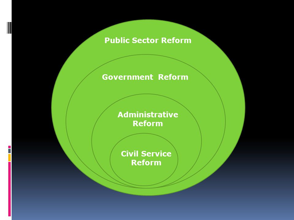 Civil Service Reform Administrative Reform Government Reform Public Sector Reform
