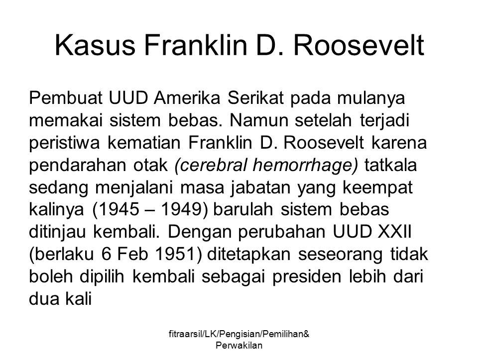 fitraarsil/LK/Pengisian/Pemilihan& Perwakilan Perwakilan Menurut Keppres No.