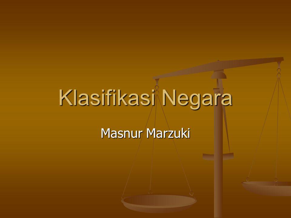 Klasifikasi Negara Masnur Marzuki