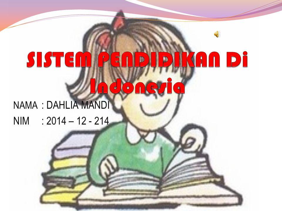 NAMA : DAHLIA MANDI NIM: 2014 – 12 - 214