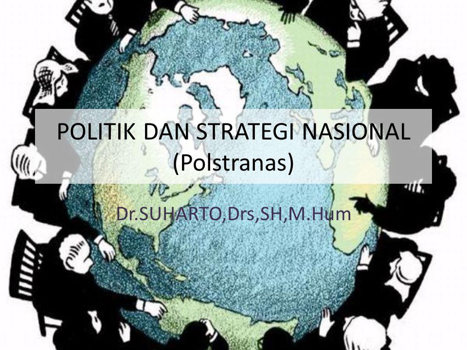 POLITIK DAN STRATEGI NASIONAL (Polstranas) Dr.SUHARTO,Drs,SH,M.Hum